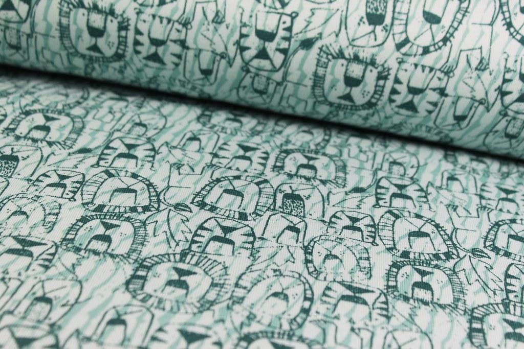 "Sweat Shirt ""Löwe"", grün, VE: 0,65m, Reststück"