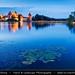 Lithuania - Trakai Island Castle at Dusk - Twilight - Blue Hour - Night