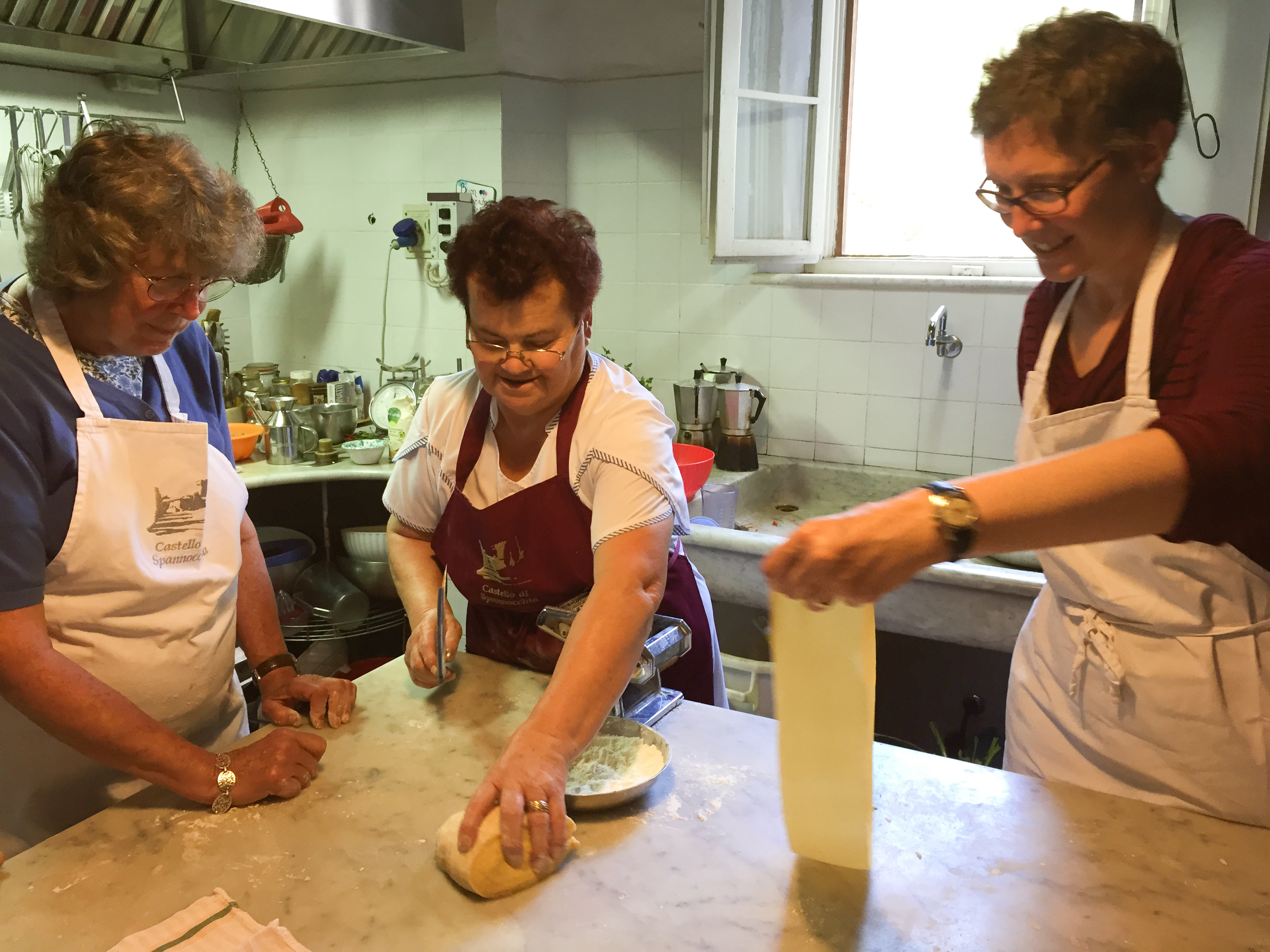 cooking class at Spannocchia