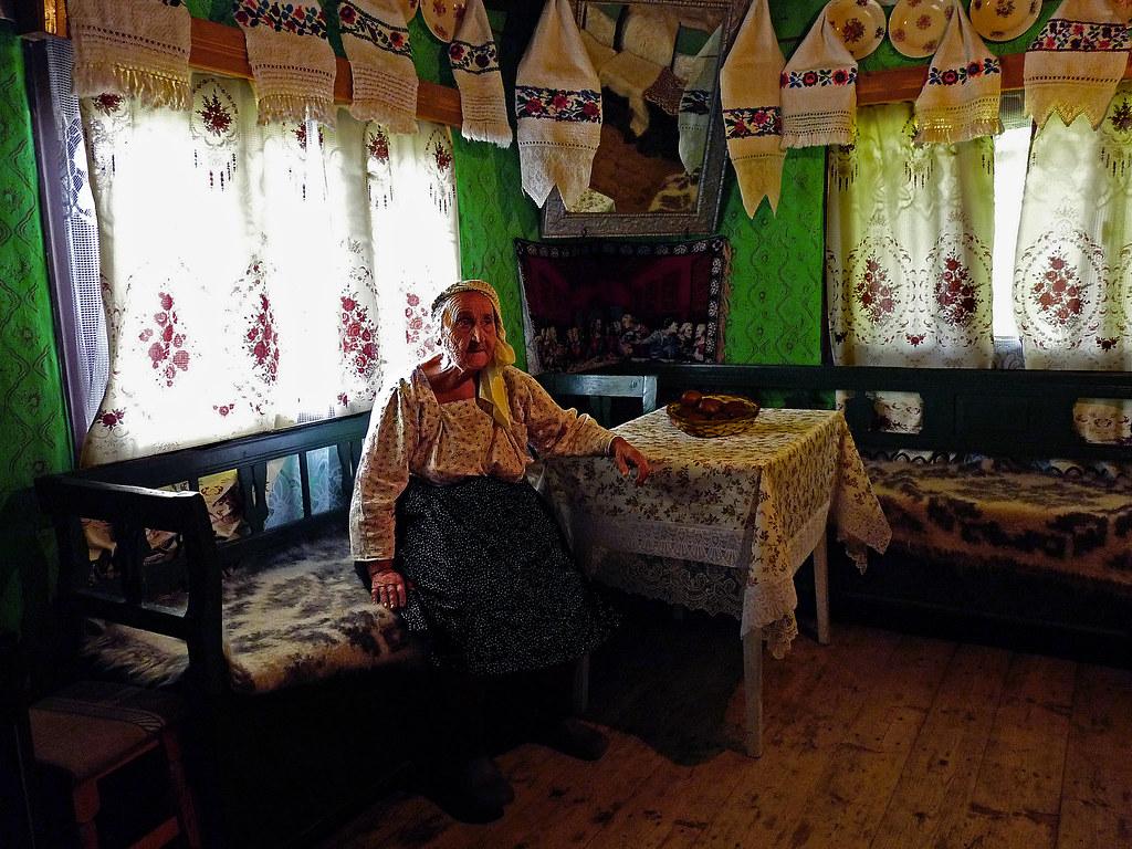 Calinesti maramures romania ileana in her wooden house in flickr - Houses maramures wood ...