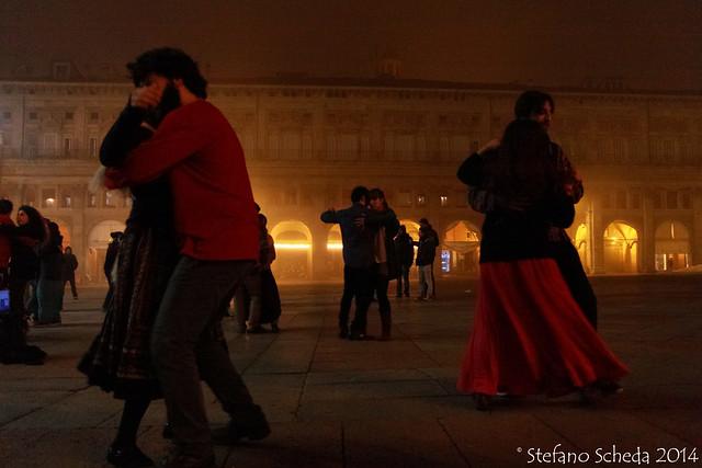 Midnight dance - Piazza Maggiore, Bologna, Italy