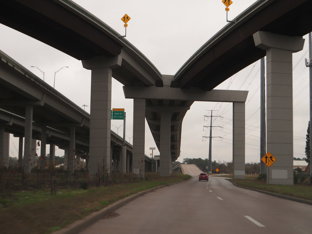 Driving Underneath Sam Houston Tollway, Houston, Texas ...