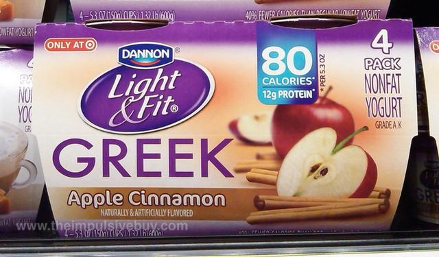 Dannon Light & Fit Apple Cinnamon Greek Yogurt ...