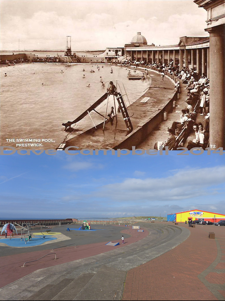 prestwick pool then and now the site of the old prestwick flickr
