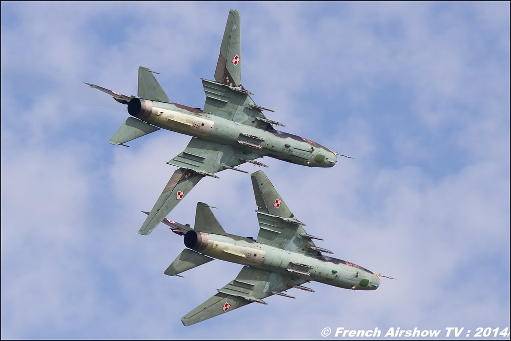 Su-22 Fitter demo Team display , AIR14 Payerne , suisse , weekend 1 , AIR14 airshow , meeting aerien 2014 , Airshow