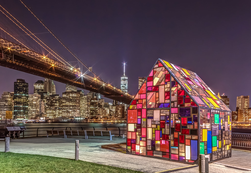 Tom Fruin S Stained Glass House Part Due As Part Of This Y Flickr