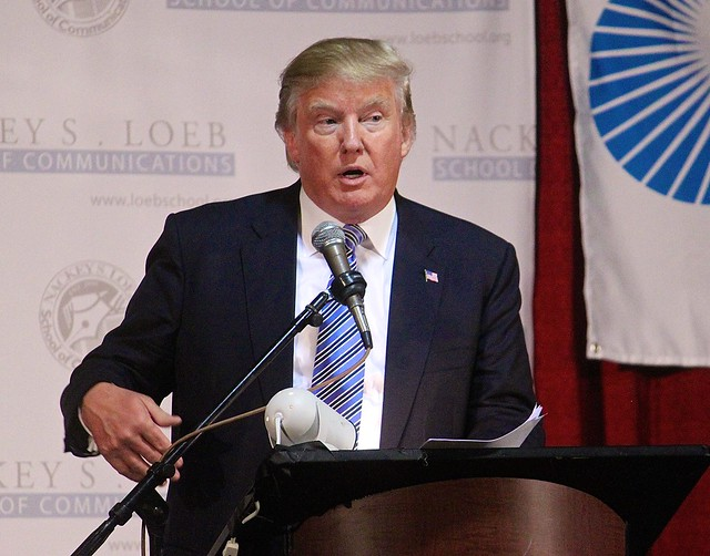 Donald Trump has been accused of using hate speech. (New Hampshire Public Radio/Flickr)