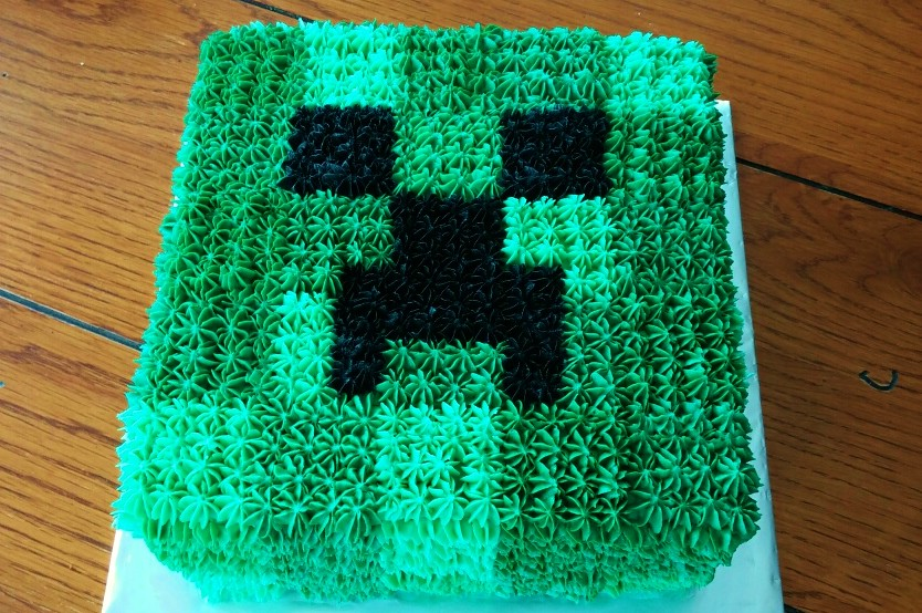 Minecraft Creeper All Buttercream Cake Brabelbry Flickr