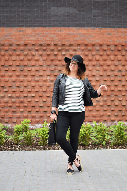 Leather Espadrilles and A FLoppy Wide Brim Hat