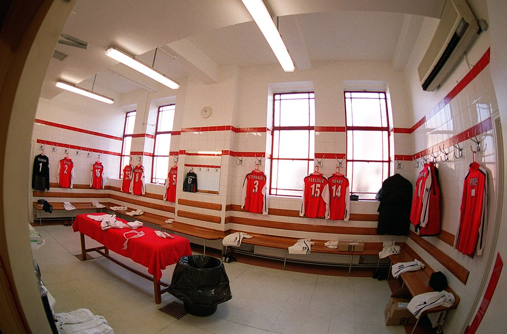 Home Changing Room At Highbury The 1st Team Changing