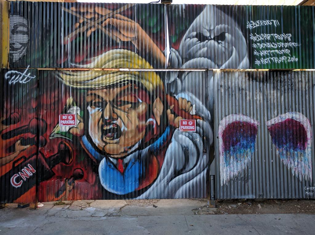Downtown Los Angeles >> Trump mural, Downtown LA, Los Angeles, California, USA | Flickr