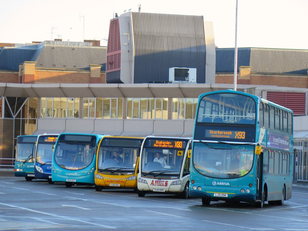 Middlesbrough Bus Station Line-Up - 13-12-14   Six various b…   Flickr