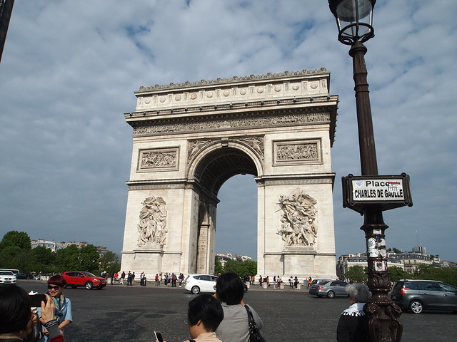 P5281792 エトワール凱旋門(アルク・ドゥ・トリヨーンフ・ドゥ・レトワール/Arc de triomphe de l'Étoile) パリ フランス paris france