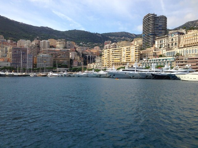 view from the monaco harbour from the bateau bus