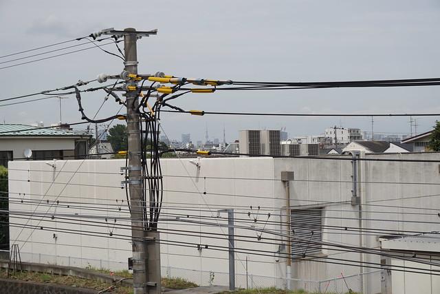 東京タワーと東京スカイツリーズームイン