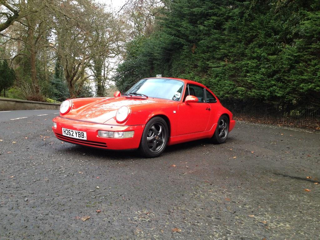 Porsche 964 Guards Red Twist Wheels Finished In Porsche
