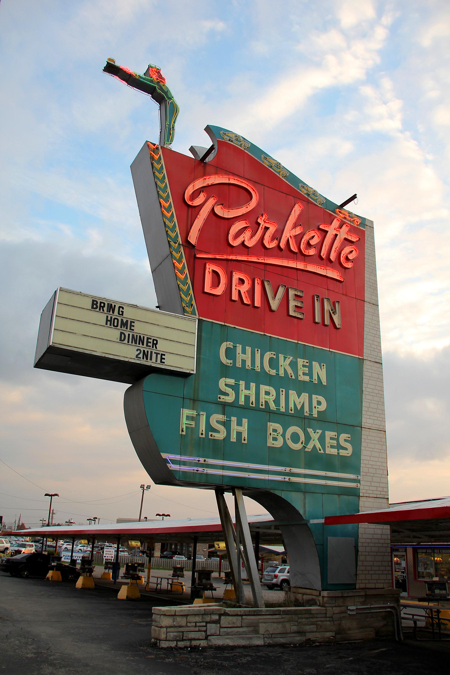 Parkette Drive In - 1230 East New Circle Road, Lexington, Kentucky U.S.A. - November 13, 2014