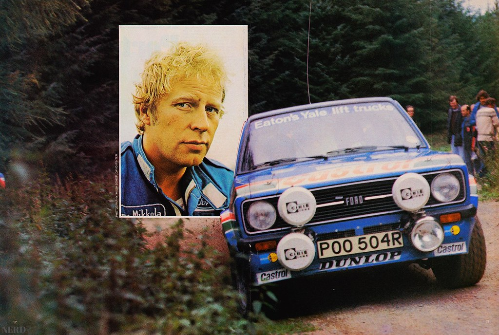 Hannu Mikkola Ford Escort Poo504r Scan From The