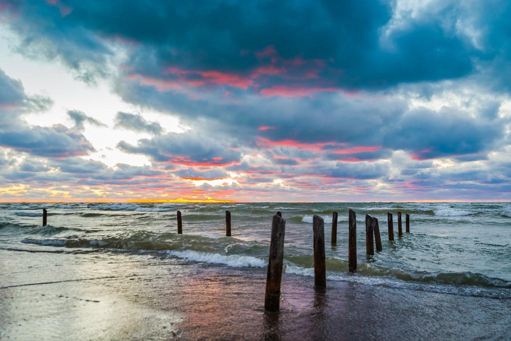 Sauble Beach Sunset This Photo Of The Sauble Beach