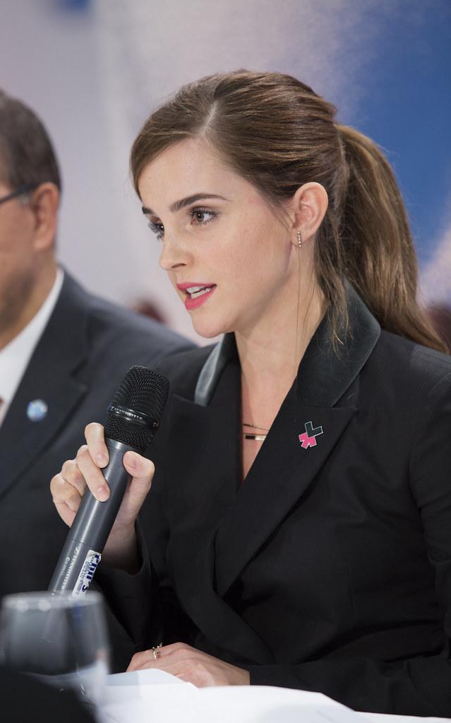 UN Goodwill Ambassador, Emma Watson, speaking at World Eco ... Goodwill