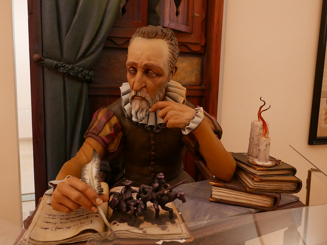 Ninot of Cervantes at the Museo Fallero