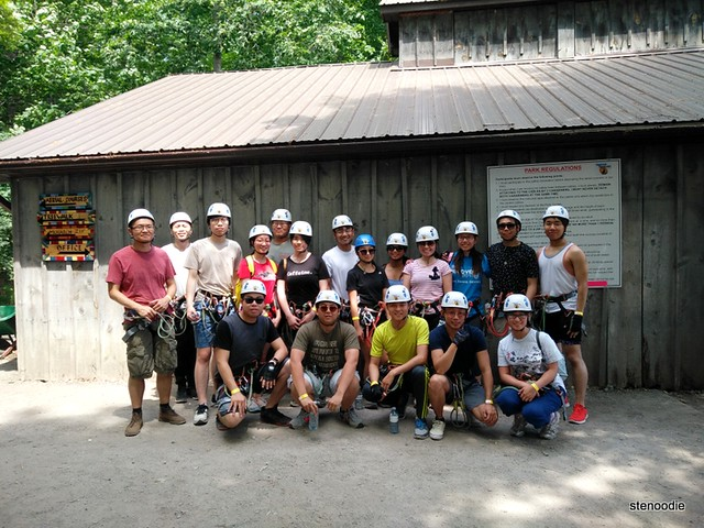 Treetop Trekking group photo