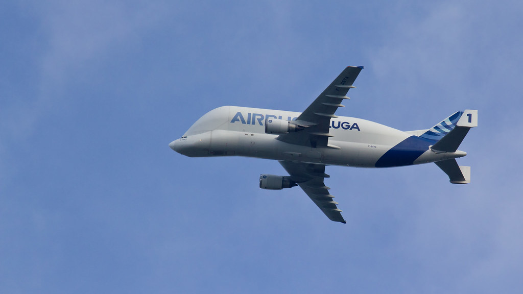 Airbus Beluga 01 Passing Wirral On Its Way To Hawarden