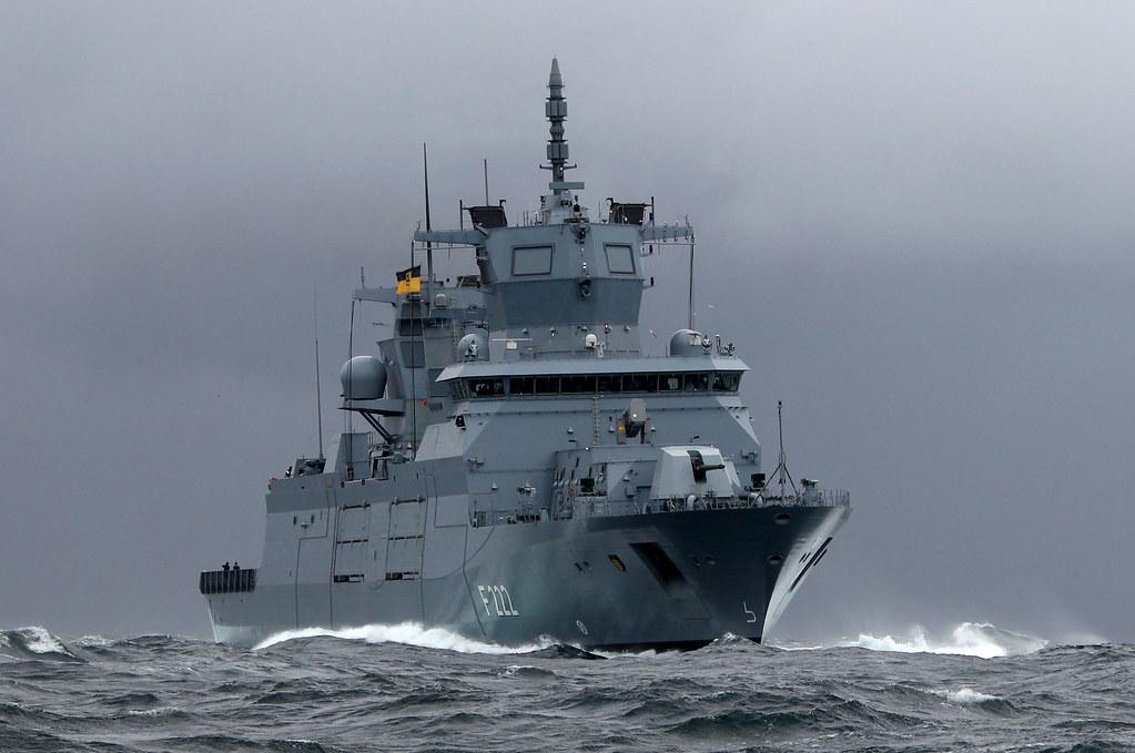 Erprobungsfahrt Der Fregatte Baden W 252 Rttemberg