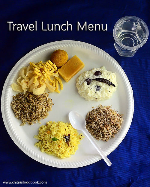 Travel lunch idea - Indian