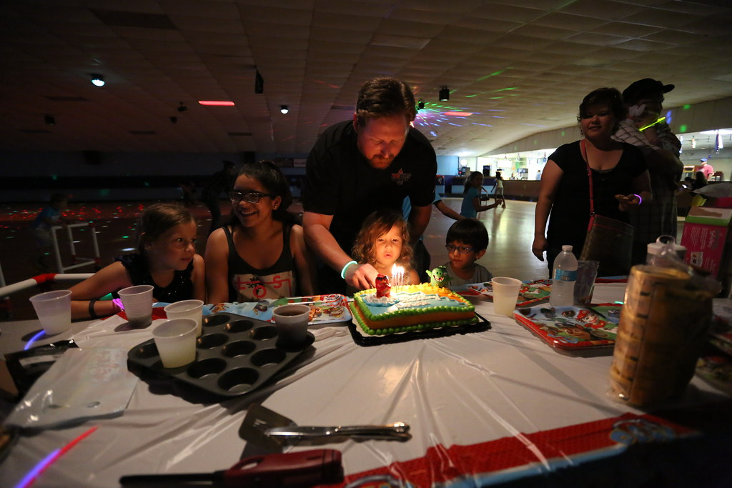 Dakota's 4th Birthday Party at Skating Rink