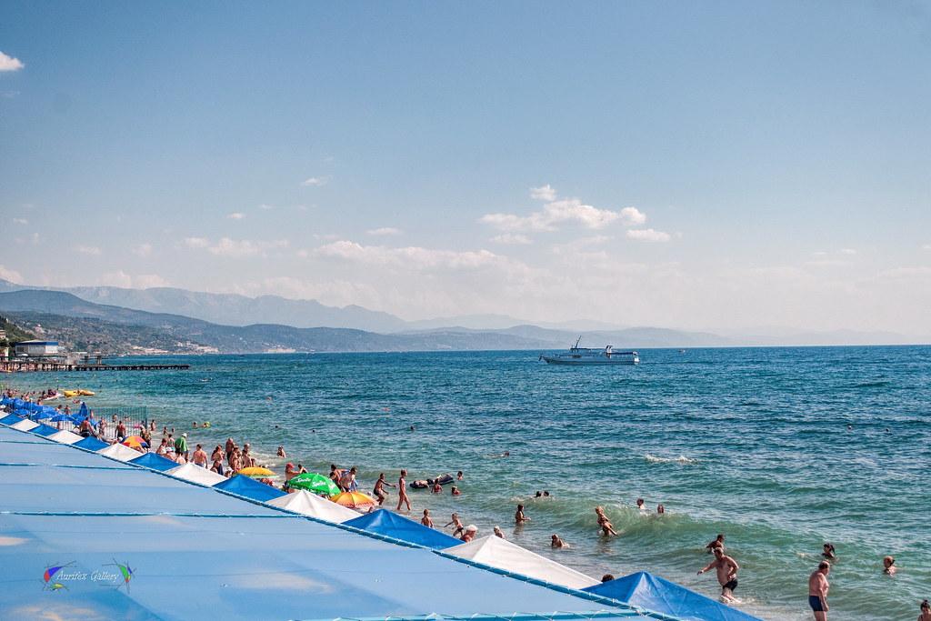 Crimean beach. People.