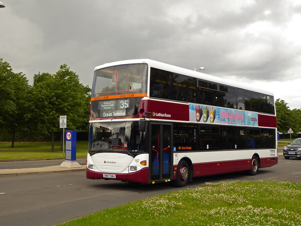 Lothian Buses 987 Finally After Checking The Tracker All