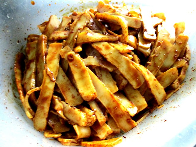 Pek koi, tossed with soy sauce etc