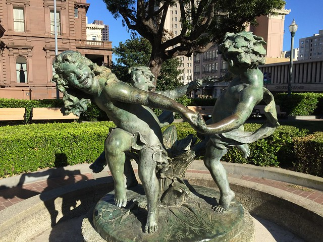 Dancing Sprites statue, Huntington Park