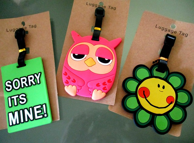 Luggage tags from the Sarawak Plaza Kuching