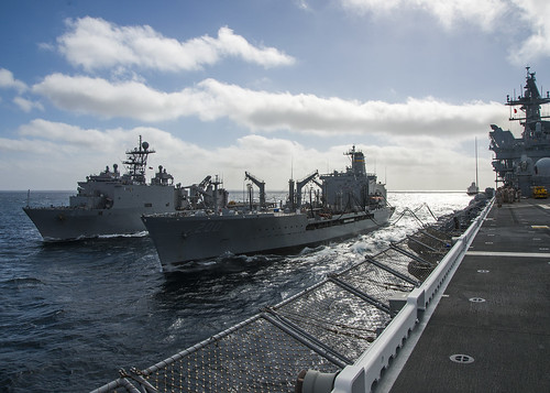PACIFIC OCEAN – The Makin Island Amphibious Ready Group (ARG) completed Group Sail off the coast of Southern California, June 17.