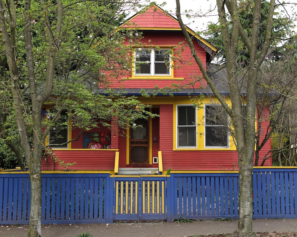 Blue House White Trim Blue Fence Orange House Yellow Trim Kate Clark Flickr