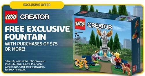 LEGO Creator Fountain 40221