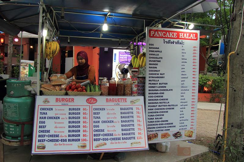 Stand Banana Pancake di sekitar pantai Ao Nang, Krabi