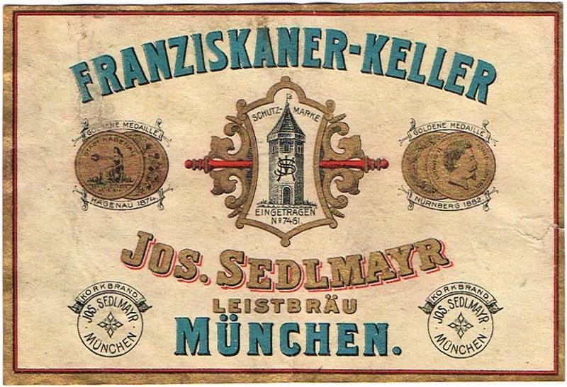 Franziskaner-Keller-Labels-Jos-Sedlmayr-Leistbrau