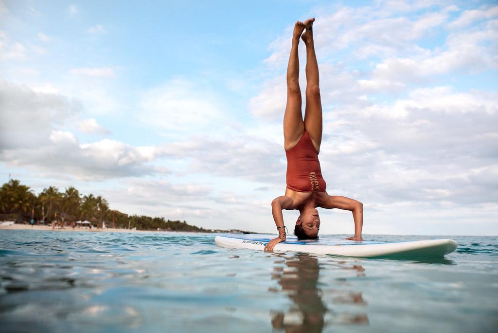 Paddleboard Yoga Model Eva Radwanli Photography