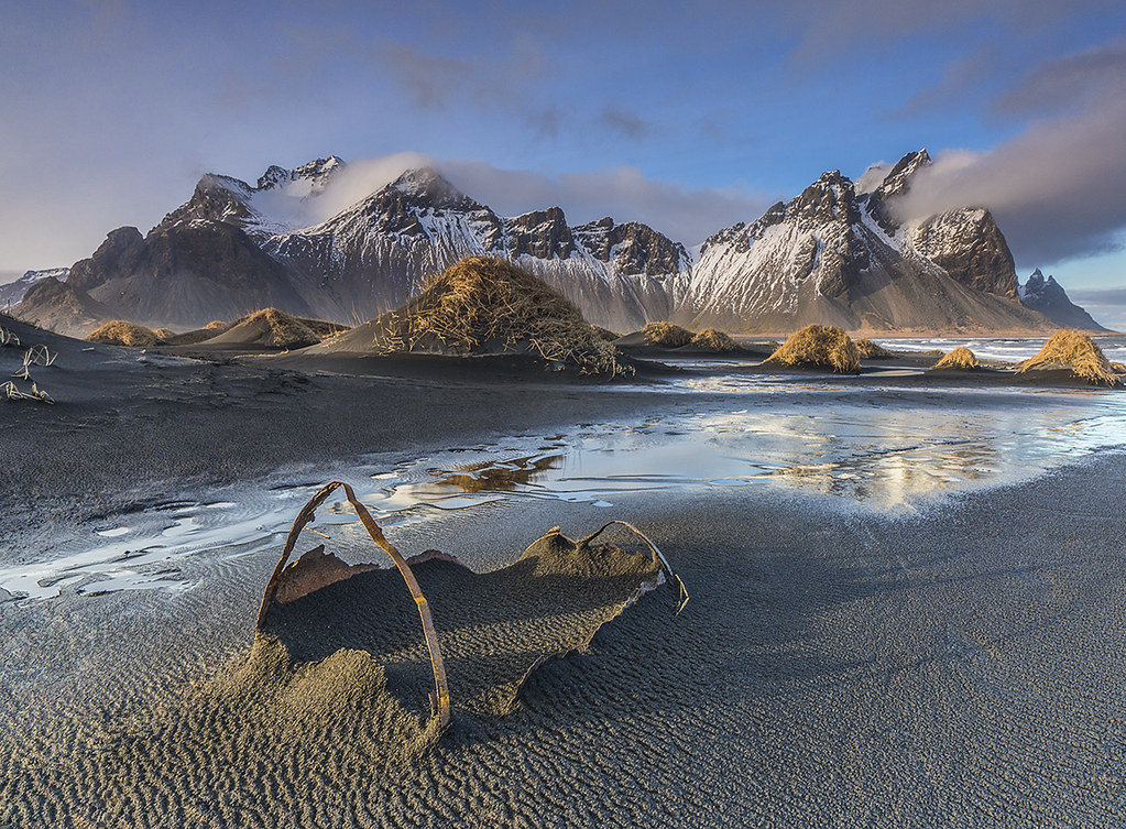 Wrecked In Paradise Stokksnes Iceland The