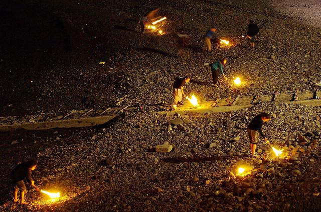 Lighting Bonfires, Noche de San Juan, La Caleta, Tenerife