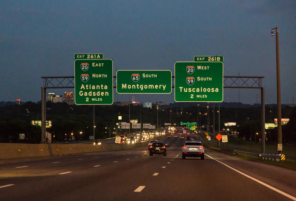 Interstate 65 Interstate 65 At Sunset In Birmingham