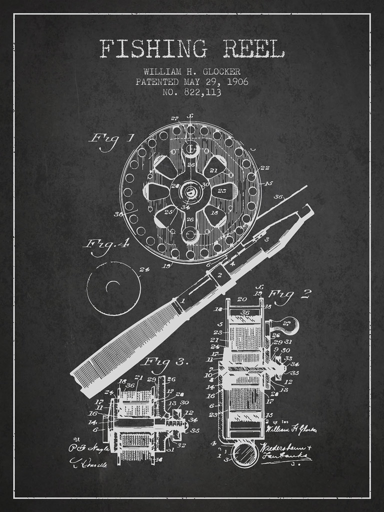 Terms Of Use >> Fishing Reel Patent from 1906 | Fishing Reel patent drawing … | Flickr