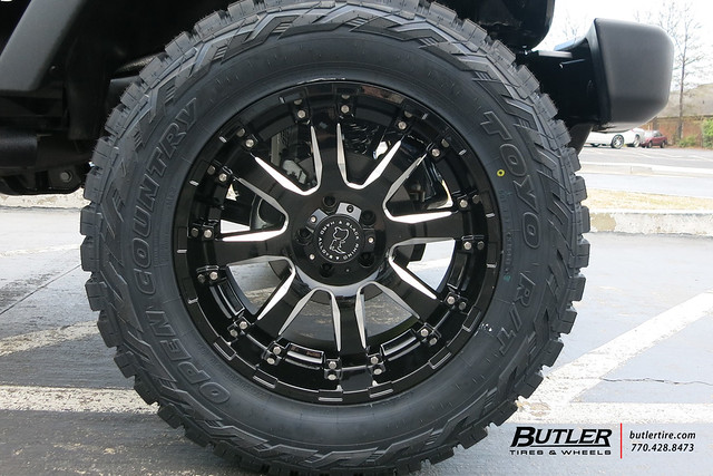 Jeep Wrangler with 20in Black Rhino Sierra Wheels | Flickr ...