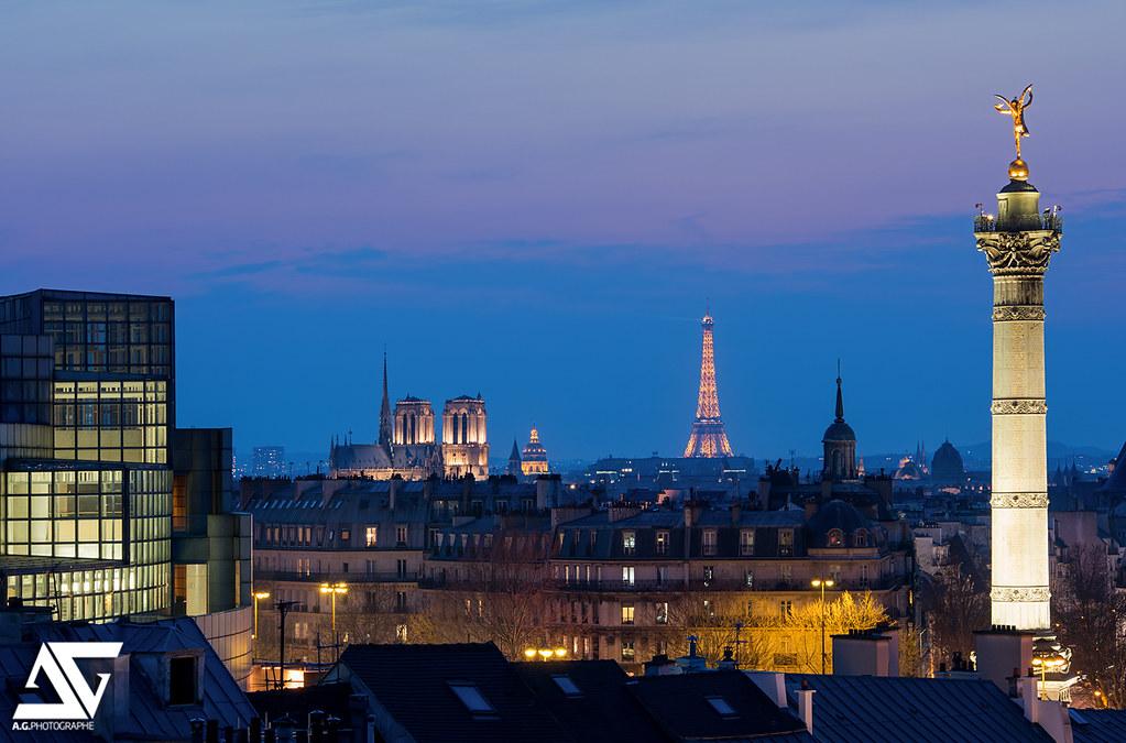 Paris from bastille op ra bastille g nie de la libert - Chambre d hotes paris bastille ...