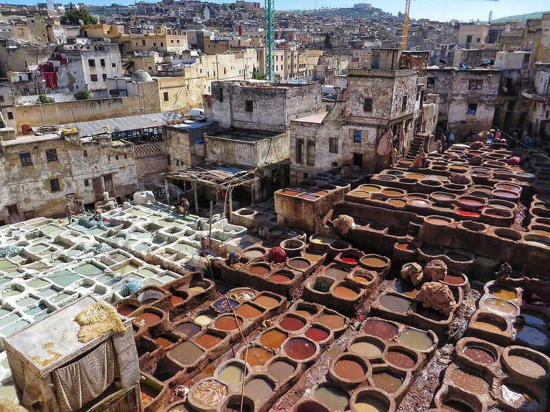 Above the tanneries in Fez