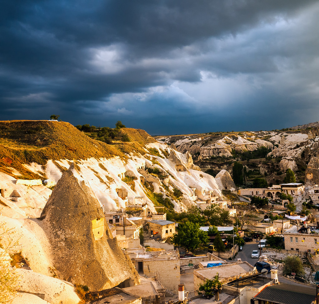 Goreme Light Show  Dramatic lighting over Goreme as seen ...