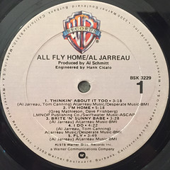 AL JARREAU:ALL FLY HOME(LABEL SIDE-A)